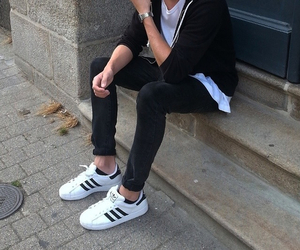 adidas, black, and boy image