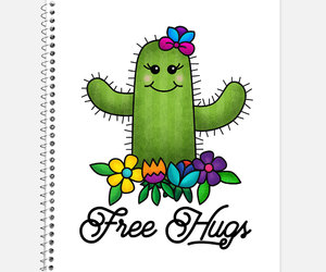 etsy, office supplies, and spiral notebook image
