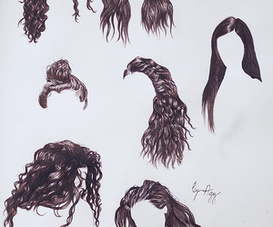 hair, lorde, and art image
