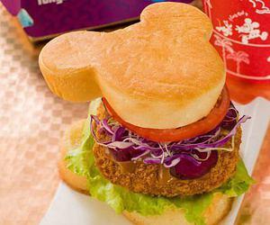 burger, disney, and disneyland image