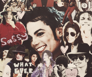 michael jackson, Collage, and king of pop image