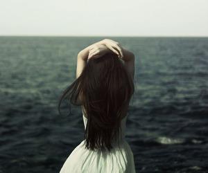 dress, girl, and sea image