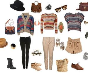 aztec, bags, and boots image