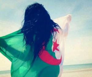 Algeria, flag, and beach image