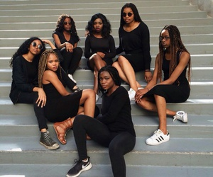 black women, brown skin, and makeup image
