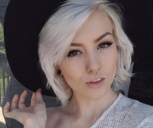 girl, white hair, and hair image