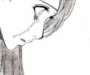 sad, anime, and cry image