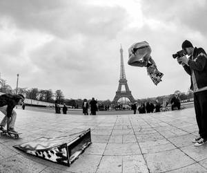 black and white, paris, and guys image