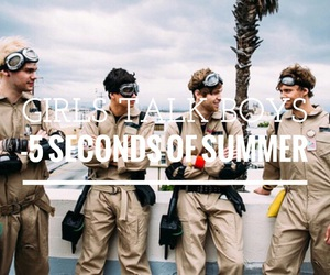 easel, 5 seconds of summer, and girls talk boys image