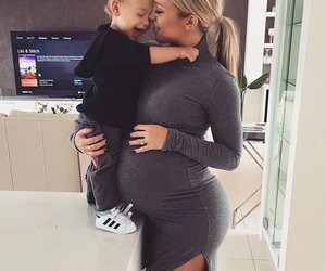 family, baby, and pregnant image