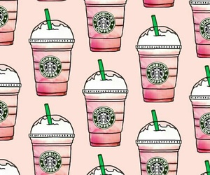 starbucks, pink, and wallpaper image