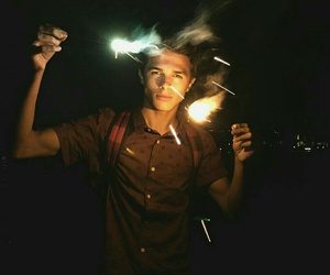boy, fireworks, and Hot image