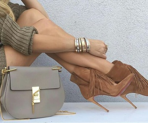 bag, high heels, and chic image