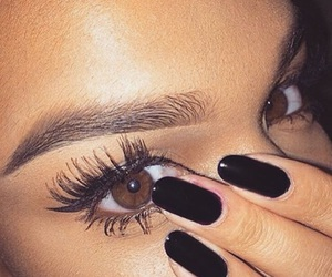 nails, eyes, and eyebrows image