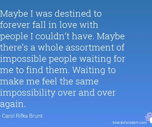 fall in love, find, and impossibility image