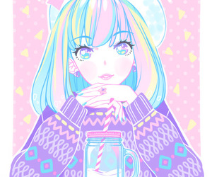 girl, cute, and pastel image