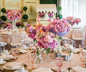decor, flowers, and wedding image