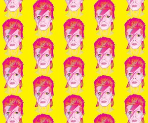 david bowie, music, and yellow image