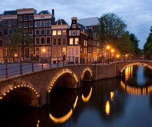 amsterdam, city, and lights image