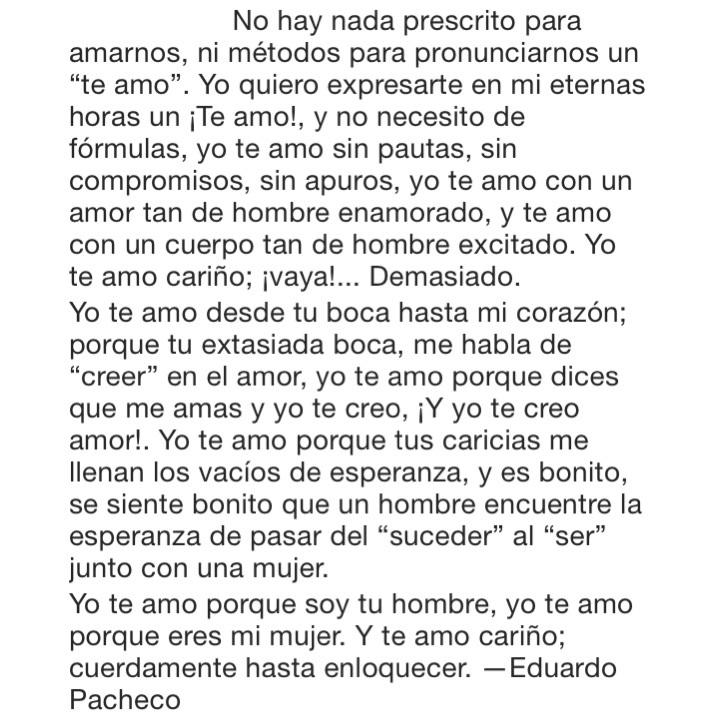 Yo Te Amo Desde Tu Boca Hasta Mi Corazón Eduardo Pacheco