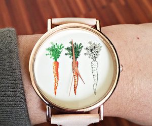 carrot, ladies watch, and etsy image