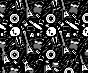 background, black and white, and music image