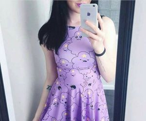 dress, purple, and adventure time image