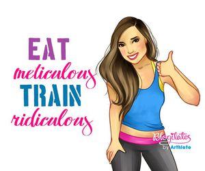fitness, girl, and health image
