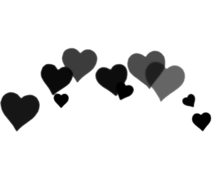 black, heart, and png image