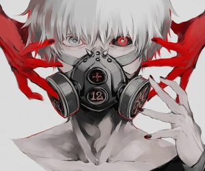 ghoul, manga, and anime boy image