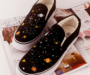 shoes, fashion, and galaxy image