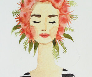coral, fashion, and flower crown image
