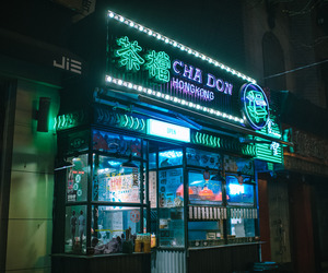 light, neon, and china image