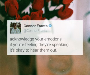 quote, connor franta, and flowers image