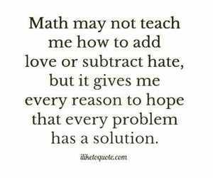 math, quote, and solution image