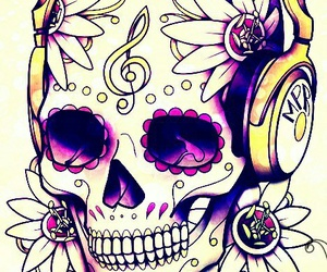 skull and music image