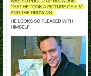 loki, tom hiddleston, and drawing image