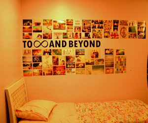 bedroom, decoration, and quotation image