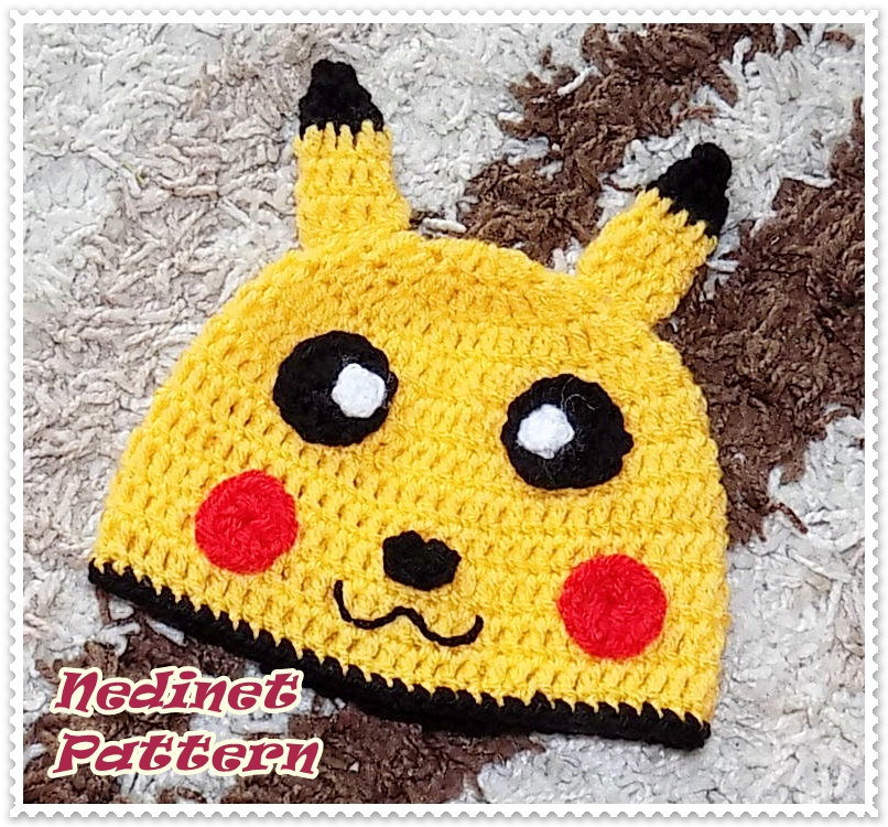 Free Crochet Pikachu Hat Pattern - Yahoo Image Search Results ... | 750x806