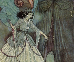 butterfly wings, drapes, and Edmund Dulac image