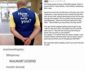 funny, walmart, and lol image