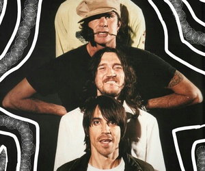 anthony kiedis, chad smith, and John Frusciante image
