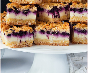 blueberries, cake, and desserts image