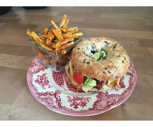 bagel, food, and lunch image