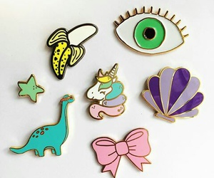 dinosaure, oeil, and pins image