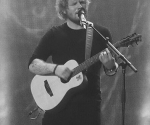 black and white, ed sheeran, and sheerios image