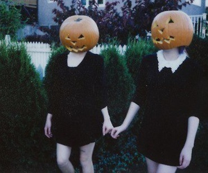 Halloween, grunge, and pumpkin image