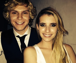 evan peters, emma roberts, and couple image
