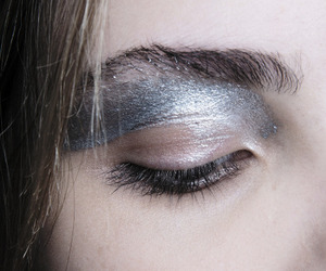 makeup, silver, and aesthetic image