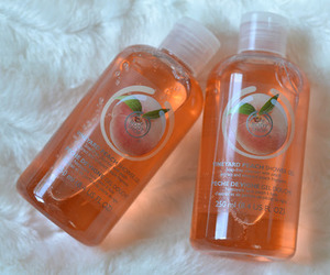 peach, orange, and the body shop image